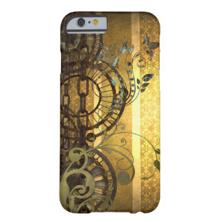 Steampunkの鎖および花模様 Barely There iPhone 6 ケース
