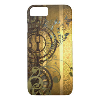 Steampunkの鎖および花模様 iPhone 8/7ケース