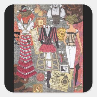 Steampunkの風変わりな2 Alina Kolluri著ペーパー人形の芸術 スクエアシール