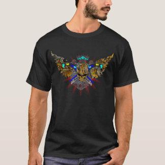 Steampunkの飛んだスカル Tシャツ