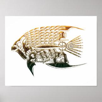 Steampunkの魚ポスター ポスター