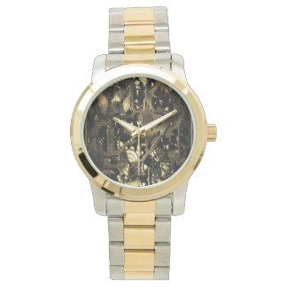 Steampunkの黄銅のギア 腕時計