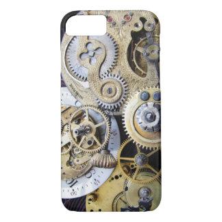 Steampunkのiphoneのためのヴィンテージ壊中時計のギア iPhone 8/7ケース