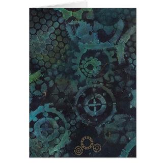 Steampunkは空白のなカードの絵を描を連動させます グリーティングカード