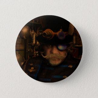 Steampunkショーン 5.7cm 丸型バッジ