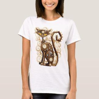 Steampunkスタイリッシュで超現実的な猫 Tシャツ