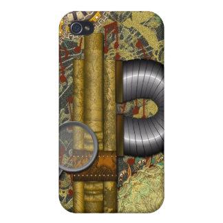 Steampunkレースのような銅の真鍮のSpeckの場合iPhone4 iPhone 4/4S Case