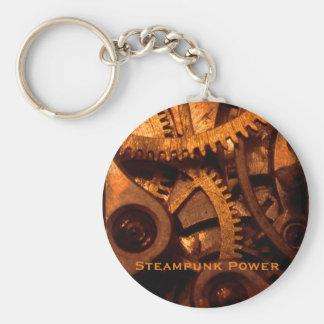 Steampunk力のギアの時計仕掛けKeychain キーホルダー