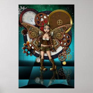 Steampunk妖精ポスターファンタジーの芸術 ポスター