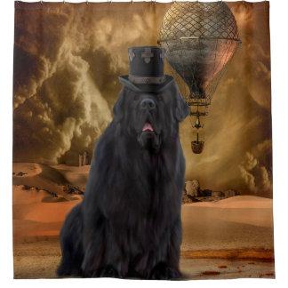 Steampunk犬のシャワー・カーテン シャワーカーテン