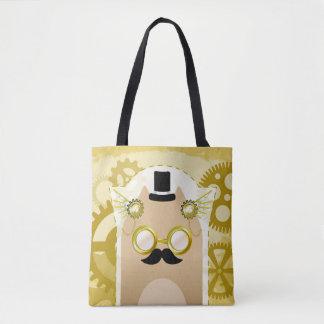 Steampunk猫のトートバック トートバッグ