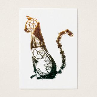 Steampunk猫の名刺 名刺