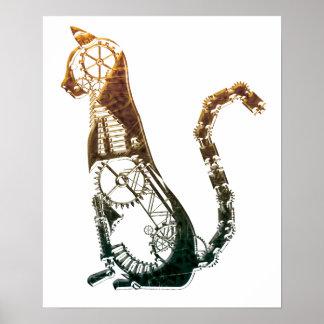 Steampunk猫ポスター ポスター