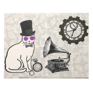 Steampunk猫 ノートパッド