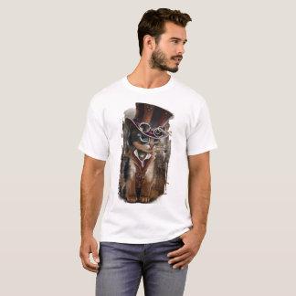 """Steampunk猫"" Tシャツ"