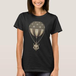 Steampunk米国の「星条旗のヴィンテージの気球 Tシャツ