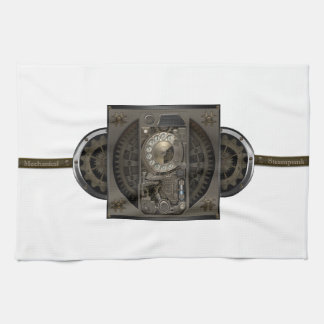 Steampunk装置-回転式のダイヤルの電話 お手拭タオル