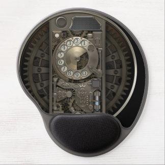Steampunk装置-回転式のダイヤルの電話 ジェルマウスパッド