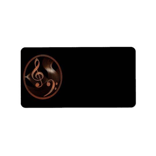 Steampunk音楽デザインのラベル(媒体) ラベル