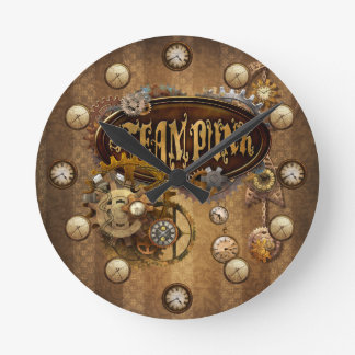 Steampunk ラウンド壁時計
