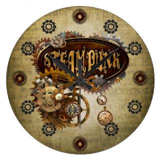 Steampunk ラージ壁時計