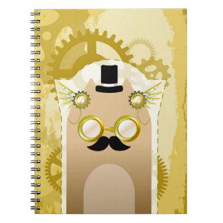 Steampunk+猫のノート(80ページB&W) ノートブック
