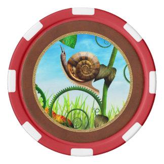 Steampunk -虫-は進化時間をかけます ポーカーチップ