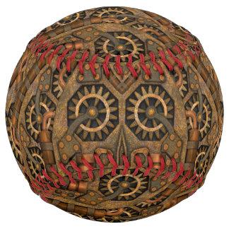 Steampunk 2のヴィンテージの万華鏡のように千変万化するパターンのソフトボール ソフトボール