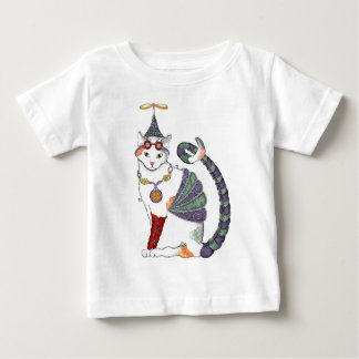 Steampunk Gretel猫のティー ベビーTシャツ