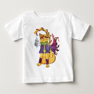 Steampunk Hansel猫のティー ベビーTシャツ