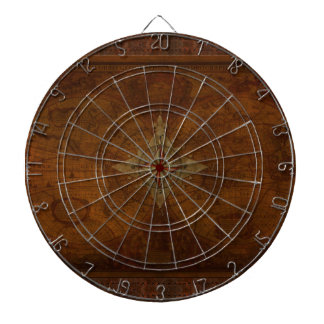 Steampunk Old World Map & Compass Rose Design ダーツボード