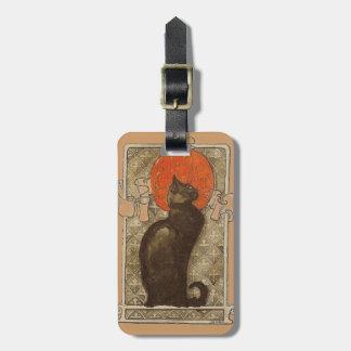 Steinleinの猫-アールヌーボーの荷物のラベル ラゲッジタグ