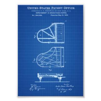 Steinwayのピアノパテント-パテントのプリント フォトプリント