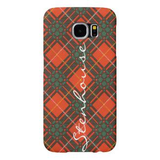 Stenhouse家族の一族の格子縞のスコットランドのキルトのタータンチェック Samsung Galaxy S6 ケース