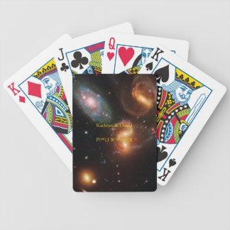Stephansのクインテットの深宇宙の星の銀河系の集り バイスクルトランプ