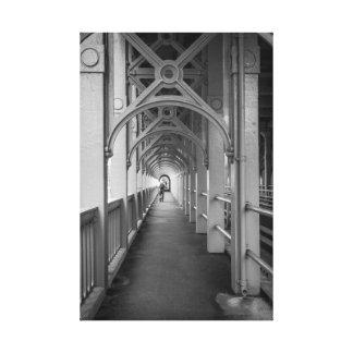 Stephensonsの高レベル橋、タインにニューキャッスル キャンバスプリント