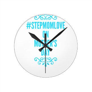 #stepmomloveの母の日 ラウンド壁時計