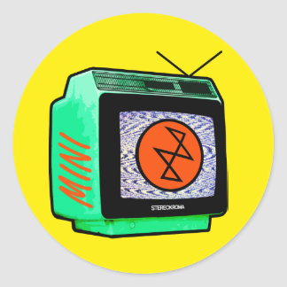 Stereokroma MiniTVのステッカー ラウンドシール