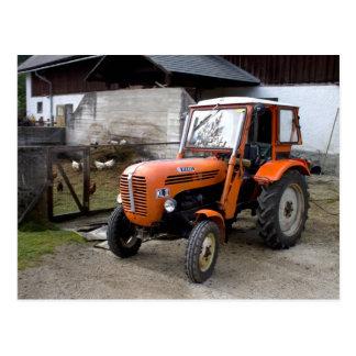 SteyrのオレンジトラクターKL II ポストカード