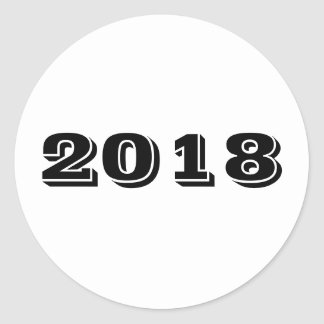 Sticker - Year 2018 ラウンドシール
