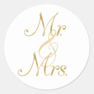 Stickers氏及び夫人 ラウンドシール