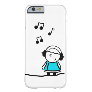 Stickman - iPhone 6/6sの場合--を聞くかわいい音楽 Barely There iPhone 6 ケース