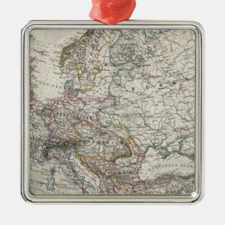 Stieler著ヨーロッパの地図 メタルオーナメント