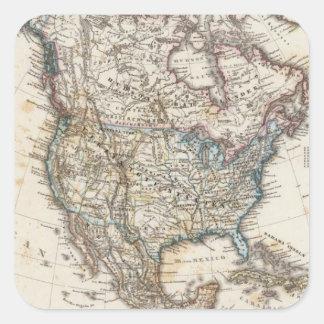 Stieler著北アメリカの地図 スクエアシール