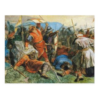 Stiklestadの戦いの間のSt.オーラヴの死 ポストカード
