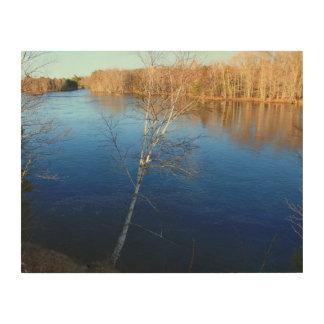 Stillwaterの川の深い青海原 ウッドウォールアート