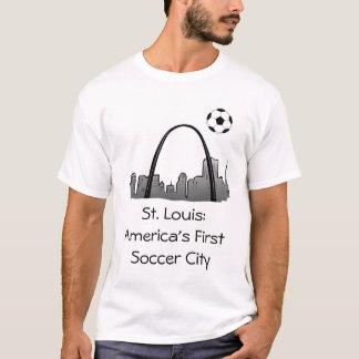 stlouis、セントルイス: アメリカの最初サッカー都市 tシャツ