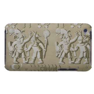 Stoからの古代アステカな戦士の浅浮き彫り、 Case-Mate iPod Touch ケース