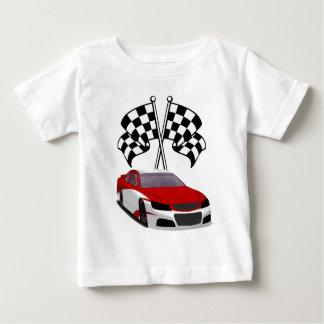 Stockcarの競争及び旗 ベビーTシャツ