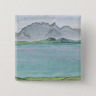 Stockhorn山および湖Thun 1911年 5.1cm 正方形バッジ
